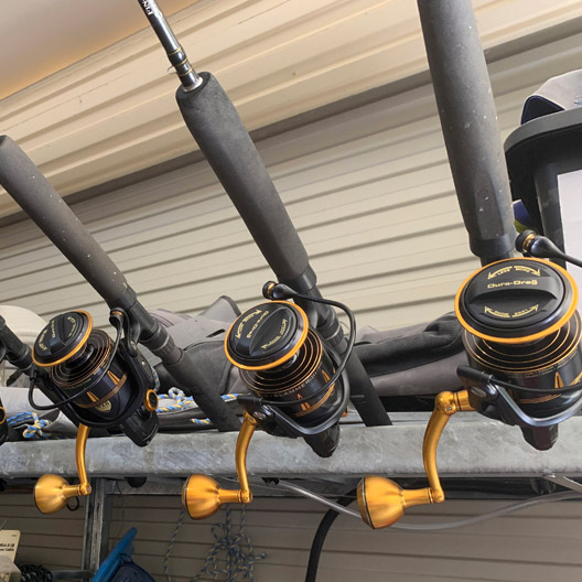 bag out fishing charters rod selection